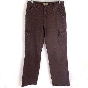 Royal Robbins Cotton Cargo Travel Pants in burgundy brown Size 6